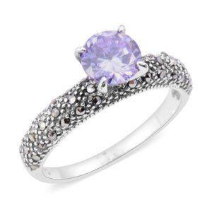 Lavendar Diamond Ring